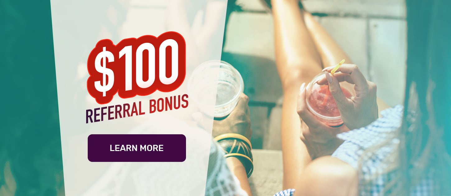 $100 Referrals at Cafe Casino