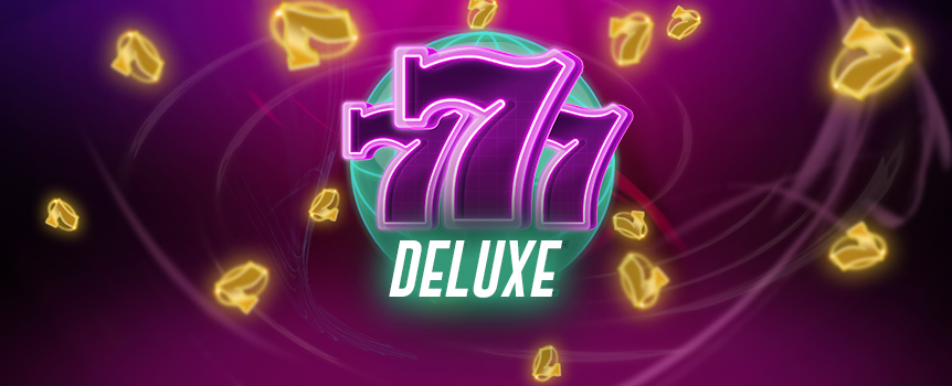 For a classic slot machine experience, try spinning the reels of 777 Deluxe. Bells, fruit, 7s, and BARs all pay homage to the original fruit machine, but unlike the original, 777 Deluxe offers bonus rounds and mystery symbols.