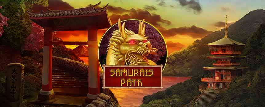 There's never a dull blade or moment playing Samurai's Path, which is loaded with a wide variety of features. Not only do aspiring samurai get to choose between three different wilds during free spins in this 5-reel, 25-line slot, but each one has its own special effect.