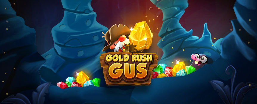 Take a trip to the old west to spin and strike gold with Gold Rush Gus! A slot machine that mixes slot machine reels with side-scrolling action.